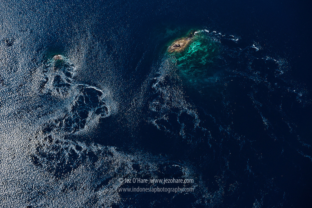 Sea currents at Komodo National Park, Flores, NTT, Indonesia