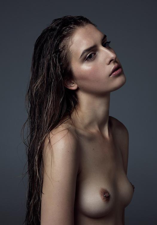 Portrait of Swedish model Malin Lundstedt