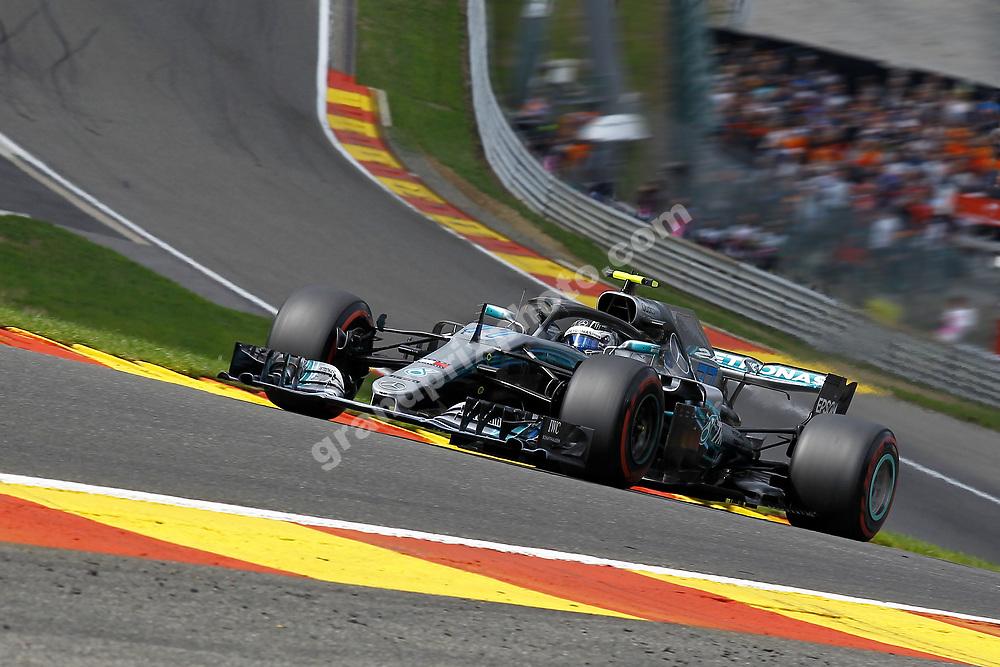 Valtteri Bottas (Mercedes) in qualifying for the 2018 Belgian Grand Prix at Spa-Francorchamps. Photo: Grand Prix Photo