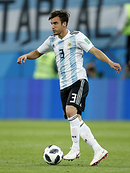 Nicolas Tagliafico of Argentina during the 2018 FIFA World Cup Russia group  D match between Nigeria and Argentina at the Saint Petersburg Stadium on June 26, 2018 in Saint Petersburg, Russia