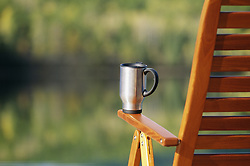 July 21, 2019 - Coffee Mug On Deck Chair (Credit Image: © Bilderbuch/Design Pics via ZUMA Wire)