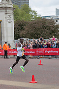 Eliud Kipchoge of Kenya during the elite mens race on The Mall during The Virgin London Marathon on 28th April 2019 in London in the United Kingdom. Now in it's 39th year The London Marathon is a large sporting event with over 40,000 runners expected to take part.