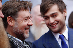 © Licensed to London News Pictures. 29/03/2014. Edinburgh, Scotland. Russell Crowe and Douglas Booth  attend the Scottish Premier of his new movie Noah at the Filmhouse in Edinburgh. Photo credit : Duncan McGlynn/LNP