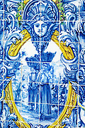 azulejos women carrying grapes in baskets ferreira port lodge vila nova de gaia porto portugal