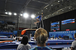 October 9, 2018 - Buenos Aires, Buenos Aires, Argentina - ADA HAUTALA of Finland competes during the Women's Vault Qualification on Day 2 of the Buenos Aires 2018 Youth Olympic Games at the Olympic Park. (Credit Image: © Patricio Murphy/ZUMA Wire)