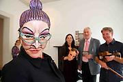 Riannach Ní Néill, Dancer, Muireann Ní Dhroighneáin Cúige Chonnacht & Co. na Mí,  Ealaín na Gaeltachta, Pádraig Ó hAoláin Udaras and Dermot McLaughlin, CEO, Temple Bar Cultural Trust - Culture Night Director  at the launch of the Gaeltacht Programme for Culture Night.  'Oíche Chultúir' features over 60 free cultural events throughout the Gaeltacht regions on the evening of Friday September 24th. Photo:Andrew Downes. Photo issued with Compiments, no reproduction fee.