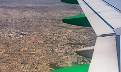 THEMENBILD - Luftaufnahme von Larnaka an einem heissen Sommertag, aufgenommen am 15. August 2018 in Larnaka, Zypern // Aerial view of Larnacaon a hot summer Day, Larnaca, Cyprus on 2018/08/15. EXPA Pictures © 2018, PhotoCredit: EXPA/ JFK