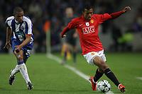 20090415: PORTO, PORTUGAL - FC Porto vs Manchester United: Champions League 2008/2009 Ð Quarter Finals Ð 2nd leg. In picture: Fernando and Nani. PHOTO: Ricardo Estudante/CITYFILES