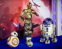 D-O, BB-8, R2-D2 and C-3PO at the 'Star Wars: The Rise of Skywalker' film premiere, London, UK - 18 Dec 2019