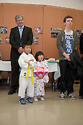 19/03/2014 Six and a Half year old Riki Tanaka and his sister Momoko at a Japanese evening at the Galway Education Centre. . Photo:Andrew Downes .