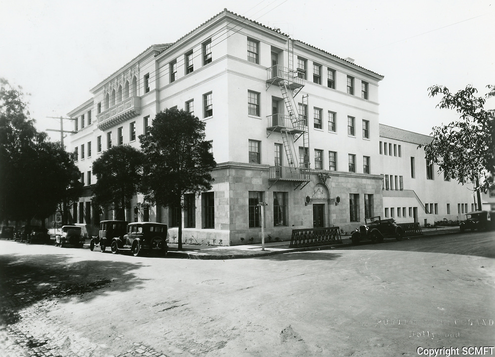 1932 The Hollywood YMCA's new building on the SW corner of Selma Ave. & Hudson Ave. (now Schrader Blvd.)