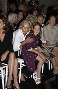 Jessica Kempner and her grandmother, Nan Kempner. Valentino haute couture. Palias du Louvre, Paris. 8 July 2001. © Copyright Photograph by Dafydd Jones 66 Stockwell Park Rd. London SW9 0DA Tel 020 7733 0108 www.dafjones.com