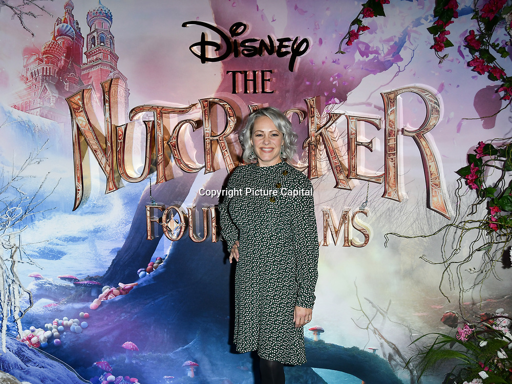 Sarah Cawood attend The Nutcracker and the Four Realms - UK premiere at Vue Westfield, Westfield Shopping Centre, Ariel Way on 1st Nov 2018, London, UK.