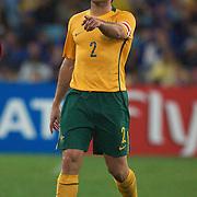 Lucas Neill during the 2010 Fifa World Cup Asian Qualifying match between Australia and Uzbekistan at Stadium Australia in Sydney, Australia on April 01, 2009. Australia won the match 2-0.  Photo Tim Clayton