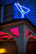 Image of a martini neon sign in Point Reyes Station, California, America west coast by Randy Wells