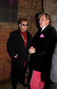 Theo Fennell and Sir Elton John, Theo Fennell party to celebrate their 21st Anniversary. The Collection. 28 October 2003. © Copyright Photograph by Dafydd Jones 66 Stockwell Park Rd. London SW9 0DA Tel 020 7733 0108 www.dafjones.com