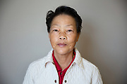 Serious Senior Asian Woman
