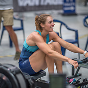Kirstyn Goodger Rowing NZ team Race #19  01:45pm <br /> <br /> www.rowingcelebration.com Competing on Concept 2 ergometers at the 2018 NZ Indoor Rowing Championships. Avanti Drome, Cambridge,  Saturday 24 November 2018 © Copyright photo Steve McArthur / @RowingCelebration