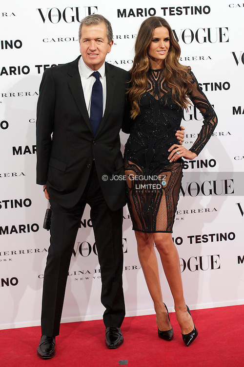 Mario Testino and Izabel Goulart attend Vogue December Issue Launch Party at Palacio Fernan Nunez on 27 November, 2012 in Madrid