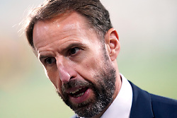 """File photo dated 09-10-2021 of England manager Gareth Southgate is interviewed after the FIFA World Cup Qualifying match at Estadi Nacional, Andorra. Gareth Southgate will pore over an """"unusually disjointed performance"""" against Hungary to ensure England put it right and wrap up World Cup qualification next month. Issue date: Wednesday October 13, 2021."""
