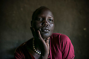 Rebecca Choul Bol, 37, was raped by two armed soldiers in December 2013 when she was three months pregnant from her husband with whom she had three children in Juba. She said four women including her were raped on their way to Juba's UN compound. She hasn't heard anything about her husband or parents ever since and now is living in Bidibidi refugee settlement on food rations.