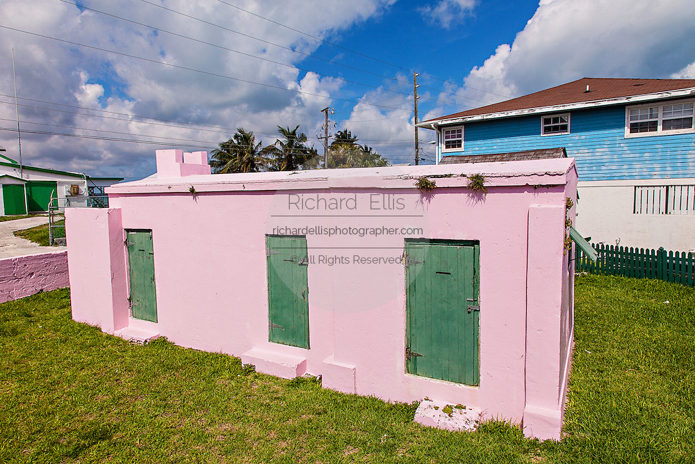 Old Jail in the village of New Plymouth, Green Turtle Cay, Bahamas.
