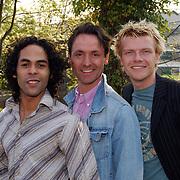 Presentatie genomineerden Musical Awards 2003, Ivo Chundro, Hugo Haenen en Bastiaan Ragas