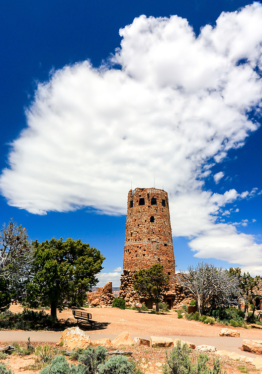 Grand Canyon Watchtower, near East Entrance. Photo take May 10, 2016.
