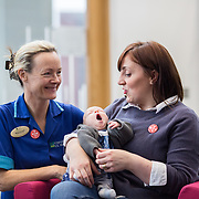 04.10. 2017.                   <br /> HEALTHCARE staff across the MidWest are taking part in a major vaccination programme to protect patients from flu this winter.<br />  <br /> UL Hospitals Group and HSE Mid West Community Healthcare this Wednesday joined forces to launch a flu campaign aimed at vaccinating thousands of healthcare workers in community, primary, mental health and acute hospital settings across Limerick, Clare and Tipperary. A national target of 40% uptake rate has been set by the HSE.<br /> <br /> Pictured at the launch were, Margo Dunworth, CMM3 Neonatal and Aine Murray, Dooradoyle with her baby son Cuan, 11 weeks.<br />  <br /> The HSE will next Monday, October 9th, launch its national flu campaign, with at-risk groups – including the over-65s; people with long-term chronic illnesses; pregnant women and residents of nursing homes and other longstay facilities – encouraged to get the vaccine from their family doctor or pharmacist. Picture: Alan Place
