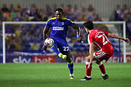 AFC Wimbledon defender Darnell Johnson (27) about to volley the ball during the EFL Sky Bet League 1 match between AFC Wimbledon and Gillingham at Plough Lane, London, United Kingdom on 23 February 2021.