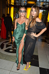 Left to right, KIMBERLEY GARNER and DOINA CIOBANU at the Revlon Choose Love Masquerade Ball held at the V&A Museum, Cromwell Road, London on 21st July 2016.