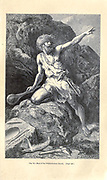 according to the French illustrator Emile Bayard (1837-1891), illustration Artwork published in Primitive Man by Louis Figuier (1819-1894), Published in London by Chapman and Hall 193 Piccadilly in 1870