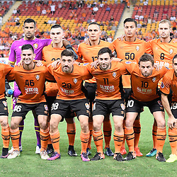 BRISBANE, AUSTRALIA - FEBRUARY 21: Brisbane Roar players pose for a photo before the Asian Champions League Group Stage match between the Brisbane Roar and Muangthong United FC at Suncorp Stadium on February 21, 2017 in Brisbane, Australia. (Photo by Patrick Kearney/Brisbane Roar)