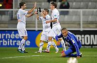 FOOTBALL - FRENCH LEAGUE CUP 2010/2011 - 1/8 FINAL - AJ AUXERRE v SC BASTIA - 27/10/2010 - PHOTO GUY JEFFROY / DPPI - JOY AUXERRE