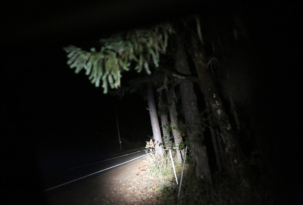 Since federal timber payments have ceased in Josephine County and other parts of Southwest Oregon, the tax-base has shrunk. Shoplifting and other property crime are up, and law enforcement personnel numbers are down. The Citizens Against Crime group patrols the town of O'Brien, near the California border, shining bright lights in search of wrongdoing.