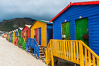 Colorful beach huts, Muizenberg, False Bay, Cape Town, South Africa.