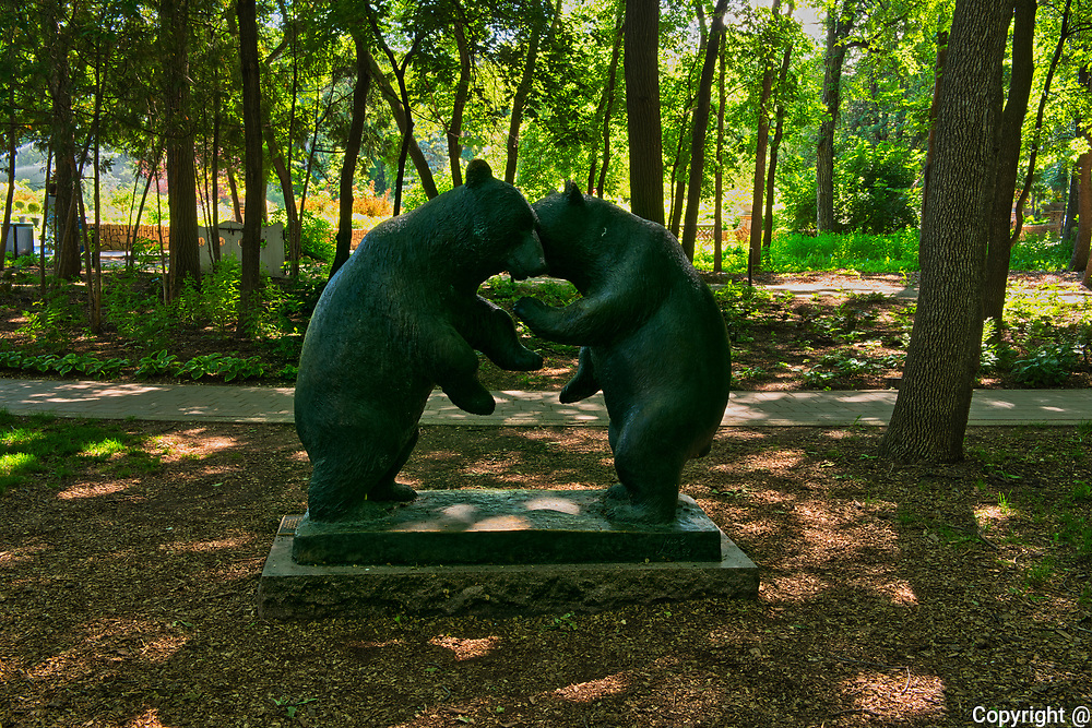 Sculpture in Leo Mol Gardens. Assiniboine Park.<br />Winnipeg<br />Manitoba<br />Canada