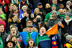 February 3, 2018 - Saint Denis, Seine Saint Denis, France - Irish fans sing anthem during NatWest Six Nations Rugby tournament between France and Ireland at Stade de France - St Denis - France..Ireland Won 15-13 (Credit Image: © Pierre Stevenin via ZUMA Wire)