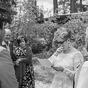 Crying Bride During Ceremony in Black and White | Lake Tahoe Wedding Photography Portfolio| Sand Harbor, Nevada
