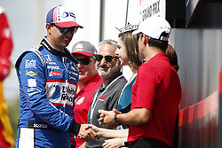 March 11, 2018 - St. Petersburg, Florida, United States of America - March 11, 2018 - St. Petersburg, Florida, USA: Graham Rahal (15) gets introduced to the crowd for the Firestone Grand Prix of St. Petersburg at Streets of St. Petersburg in St. Petersburg, Florida. (Credit Image: © Justin R. Noe Asp Inc/ASP via ZUMA Wire)