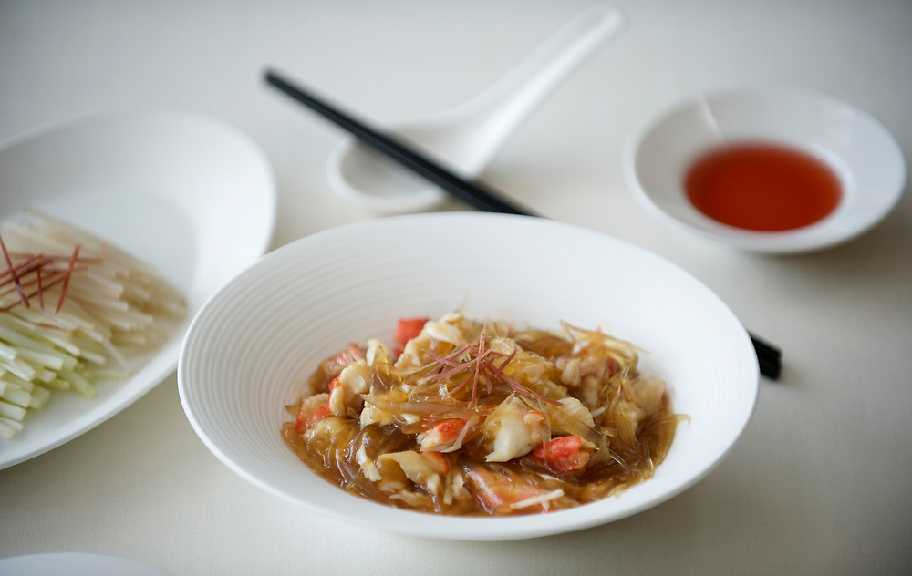 06 July 2009, Macau, China --- Stir-fried Superior Shark's Fin with King Crab Bouillon. Photo by Victor Fraile --- Image by © Victor Fraile