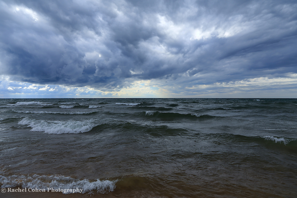 """""""Lake Michigan in Motion""""<br /> <br /> Beautiful Lake Michigan on a stormy day!"""