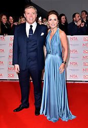 Geri Horner and Rob Beckett attending the National Television Awards 2018 held at the O2 Arena, London.