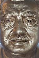 Jorge Amado Foundation in Largo do Pelourinho. Detail of the bust of the writer.