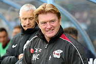 Scunthorpe United Manager Stuart McCall  during the EFL Sky Bet League 1 match between Scunthorpe United and Plymouth Argyle at Glanford Park, Scunthorpe, England on 27 October 2018. Pic Mick Atkins