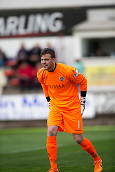 Cowdenbeath's keeper Michael Andrews. <br /> Dunfermline 7 v 1 Cowdenbeath, SPFL Ladbrokes League Division One game played 15/8/2015 at East End Park.