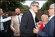 EVGENY LEBEDEV; JAY JOPLING; LANA DUNPHY; FRANK DUNPHY, 2014 Serpentine's summer party sponsored by Brioni.with a pavilion designed this year by Chilean architect Smiljan Radic  Kensington Gdns. London. 1July 2014