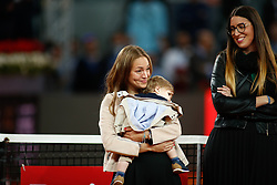 May 8, 2019 - Madrid, MADRID, SPAIN - Wife of David Ferrer (ESP) during his retirement from professional tennis during the Mutua Madrid Open 2019 (ATP Masters 1000 and WTA Premier) tenis tournament at Caja Magica in Madrid, Spain, on May 08, 2019. (Credit Image: © AFP7 via ZUMA Wire)