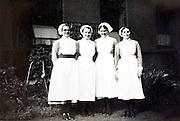 group portrait of nurses 1900s England