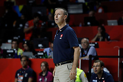 06.09.2014, Palacio de Deportes, Madrid, ESP, FIBA WM, Frankreich vs Kroatien, im Bild France´s coach Vincent Collet // during FIBA Basketball World Cup Spain 2014 match between France and Croatia at the Palacio de Deportes in Madrid, Spain on 2014/09/06. EXPA Pictures © 2014, PhotoCredit: EXPA/ Alterphotos/ Victor Blanco<br /> <br /> *****ATTENTION - OUT of ESP, SUI*****